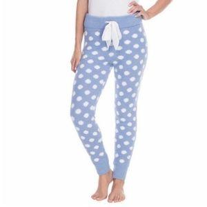Honeydew Fuzzy Jogger Pajama Lounge Polka-dot Med